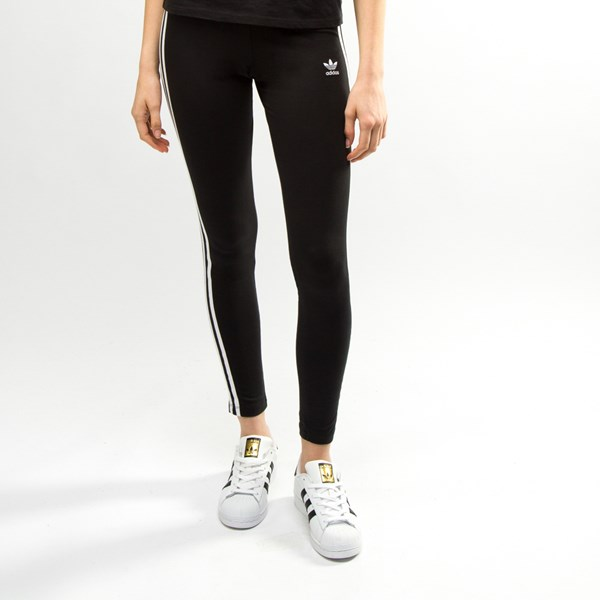 alternate image alternate view Womens adidas 3-Stripes LeggingsALT1
