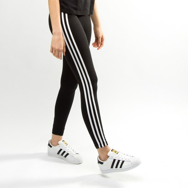 alternate image alternate view Womens adidas 3-Stripes LeggingsALT4