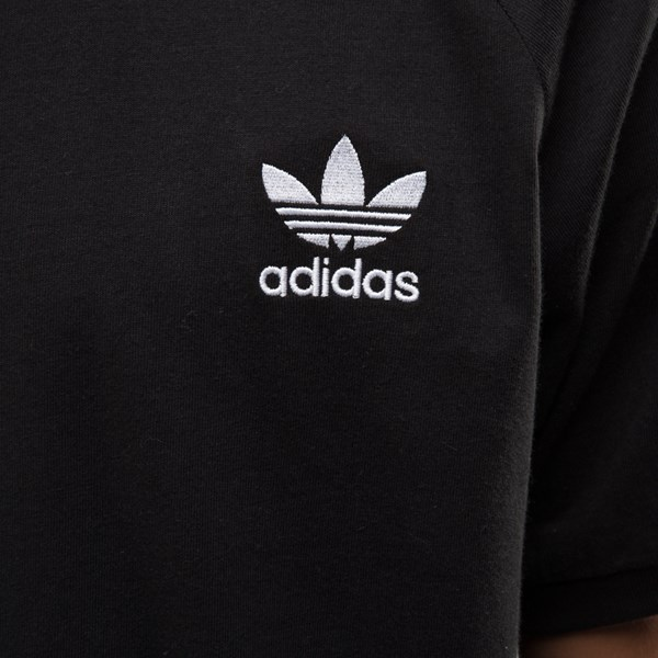 alternate image alternate view Mens adidas 3-Stripes Ringer Tee - Black / WhiteALT4