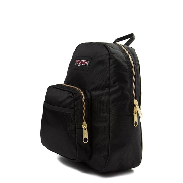 alternate image alternate view JanSport Half Pint FX Mini Backpack - Black / GoldALT2