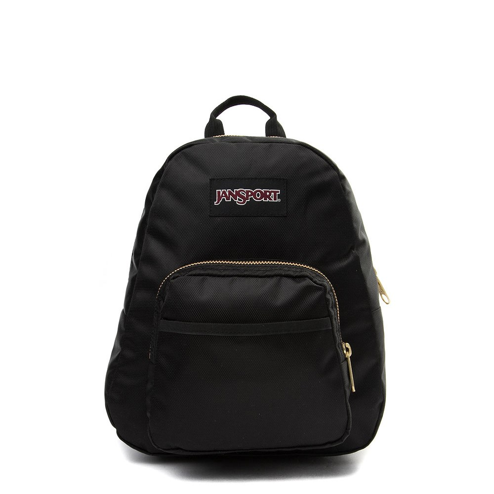 JanSport Half Pint FX Mini Backpack - Black / Gold