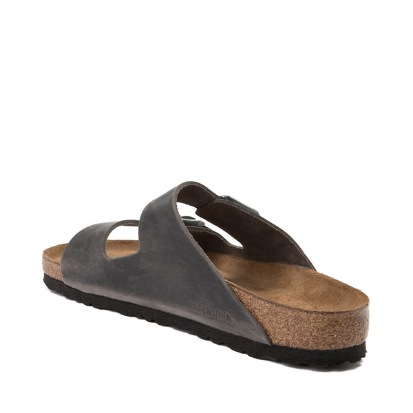 alternate image alternate view Mens Birkenstock Arizona Soft Footbed Sandal - GreyALT1