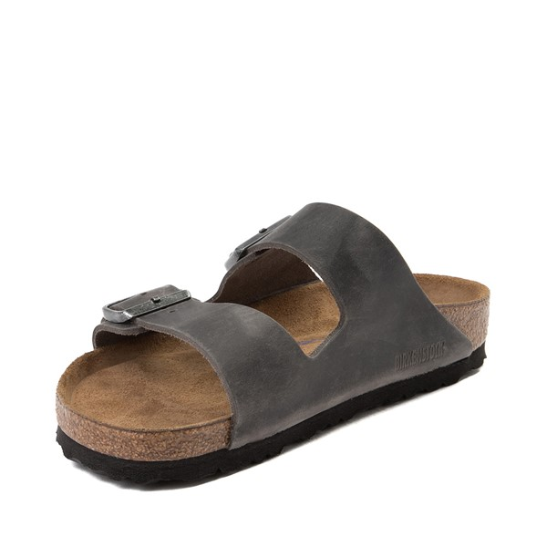 alternate image alternate view Mens Birkenstock Arizona Soft Footbed Sandal - GreyALT2
