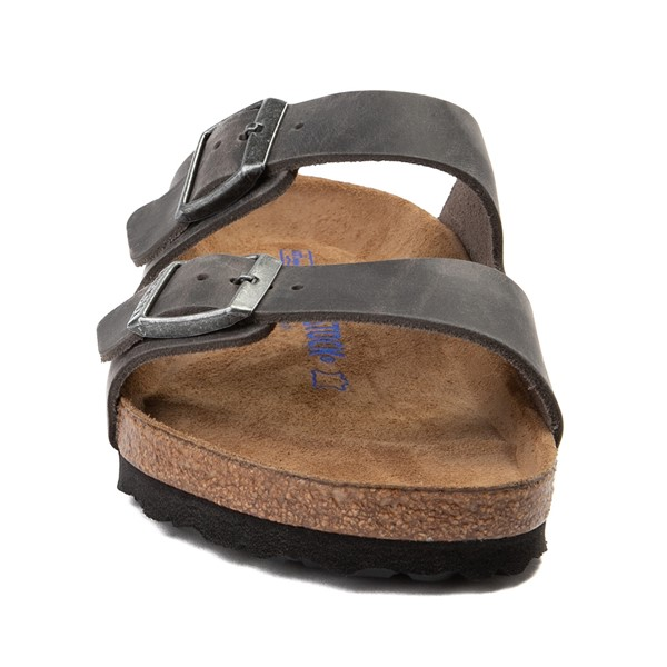alternate image alternate view Mens Birkenstock Arizona Soft Footbed Sandal - GreyALT4