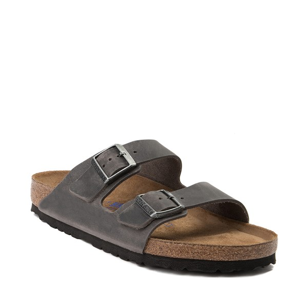 alternate image alternate view Mens Birkenstock Arizona Soft Footbed Sandal - GreyALT5