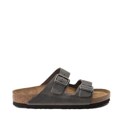 Main view of Mens Birkenstock Arizona Soft Footbed Sandal - Grey