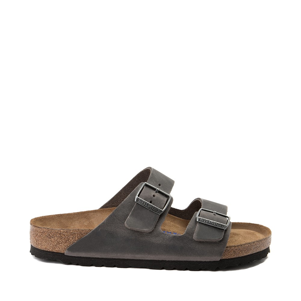 Mens Birkenstock Arizona Soft Footbed Sandal - Grey