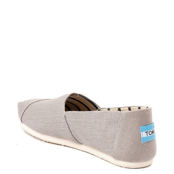 alternate image alternate view Womens TOMS Classic Slip On Casual Shoe - GreyALT2