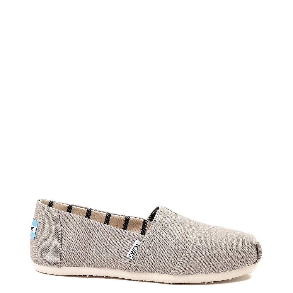 Womens TOMS Classic Slip On Casual Shoe - Grey