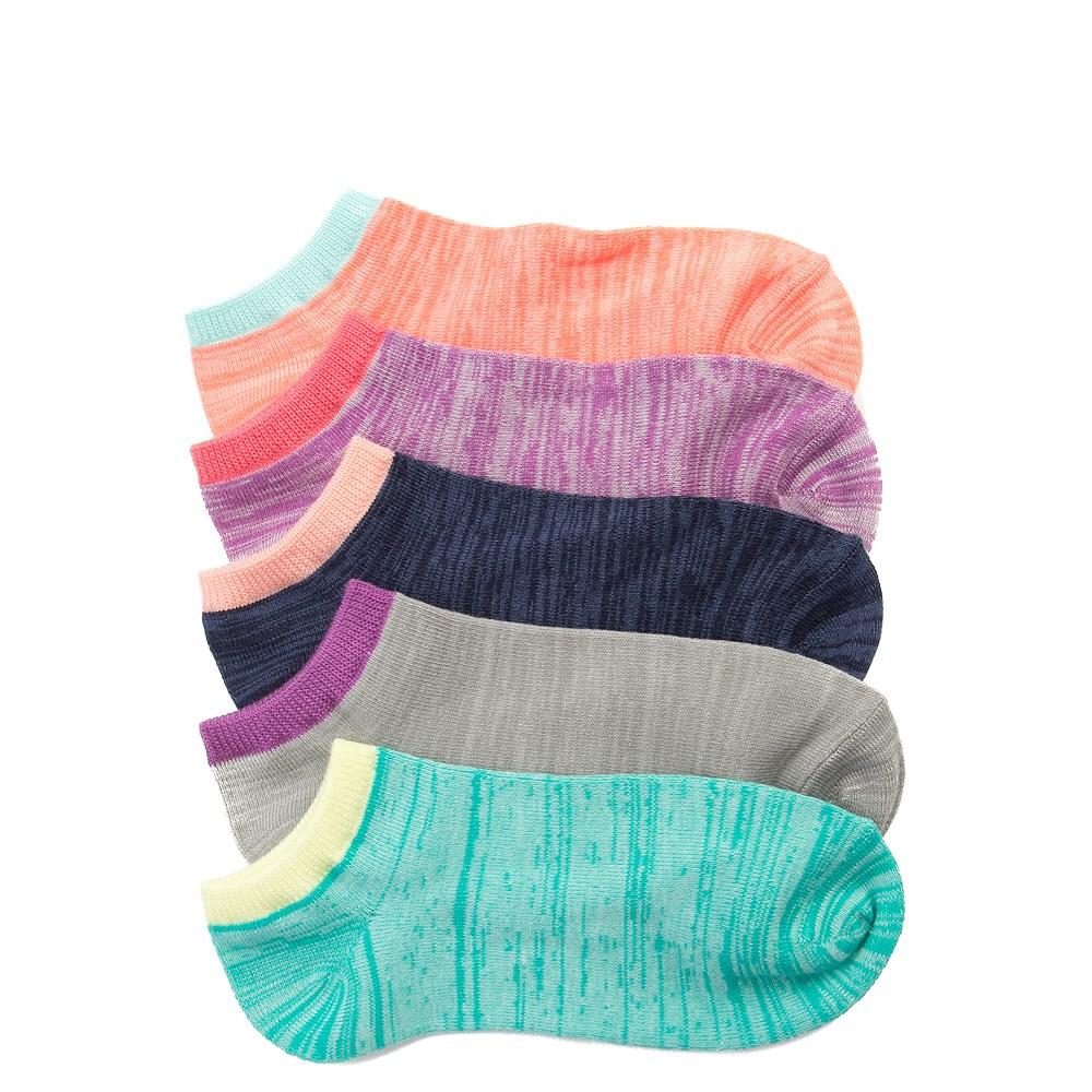 Womens Marled Knit Low Cut Socks 5 Pack