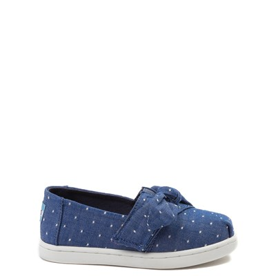 Main view of TOMS Classic Bow Slip On Casual Shoe - Baby / Toddler / Little Kid
