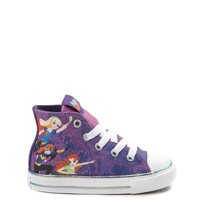 Main view of Converse Chuck Taylor All Star Hi DC Superhero Girls™ Sneaker - Baby / Toddler