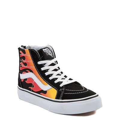 Alternate view of Vans Sk8 Hi Flames Skate Shoe - Little Kid / Big Kid