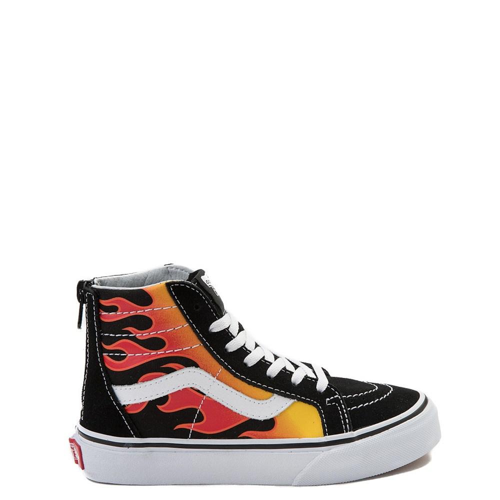 Vans Sk8 Hi Flames Skate Shoe - Little Kid / Big Kid