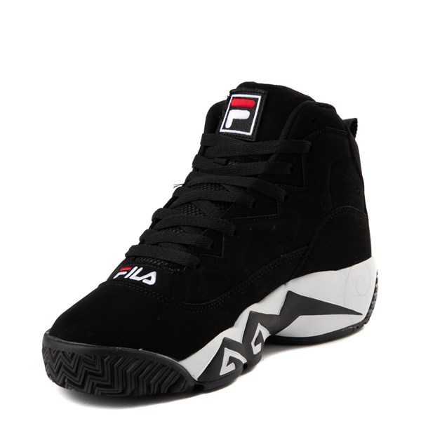 alternate image alternate view Mens Fila MB Athletic Shoe - Black / White / RedALT3