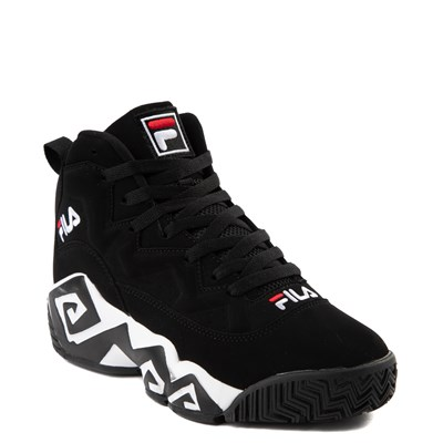 Alternate view of Mens Fila MB Athletic Shoe - Black / White / Red