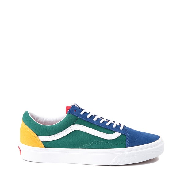 Main view of Vans Old Skool Skate Shoe - Blue / Green / Yellow