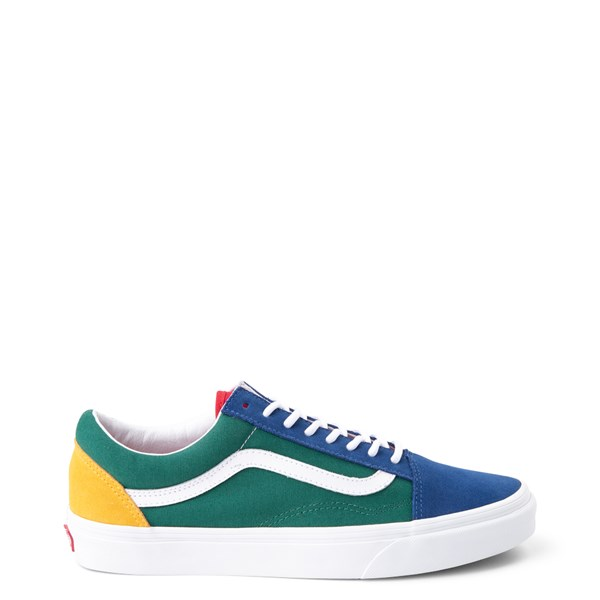 Main view of Vans Old Skool Skate Shoe - Blue / Green / Yellow