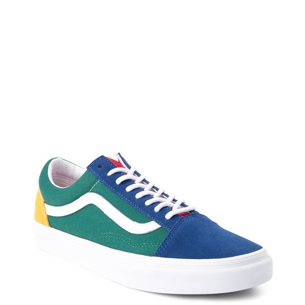 alternate image alternate view Vans Old Skool Skate Shoe - Blue / Green / YellowALT1