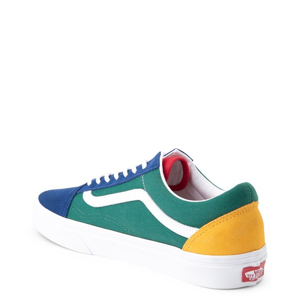 alternate image alternate view Vans Old Skool Skate Shoe - Blue / Green / YellowALT2