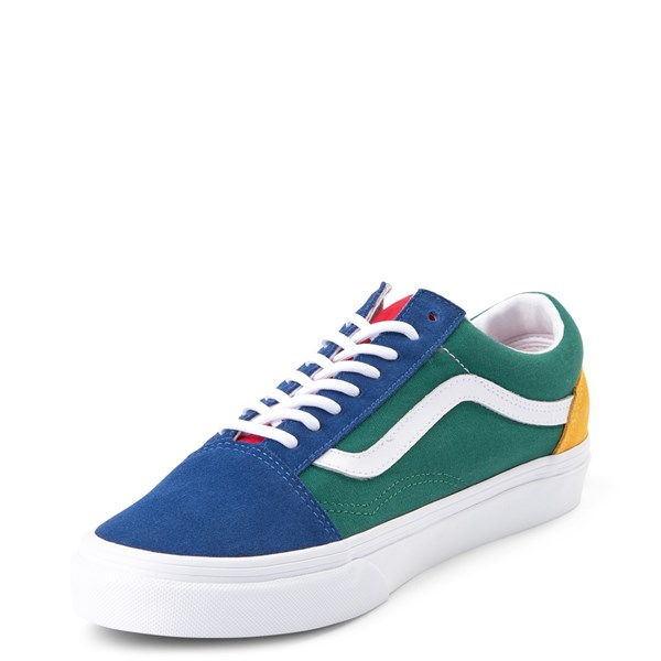 alternate image alternate view Vans Old Skool Skate Shoe - Blue / Green / YellowALT3