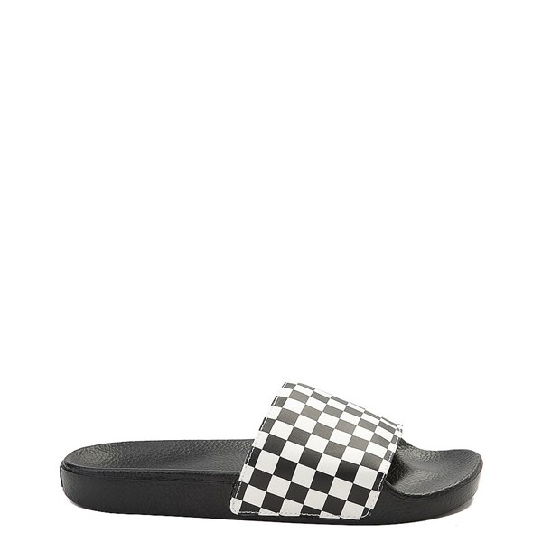 Main view of Mens Vans Slide On Checkerboard Sandal - Black / White