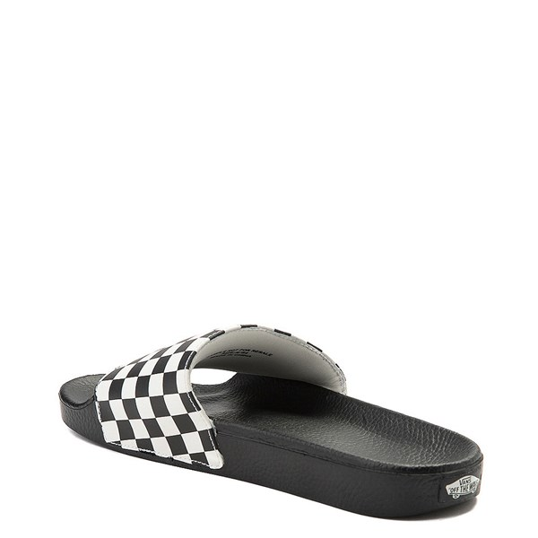 alternate image alternate view Mens Vans Slide On Checkerboard Sandal - Black / WhiteALT2