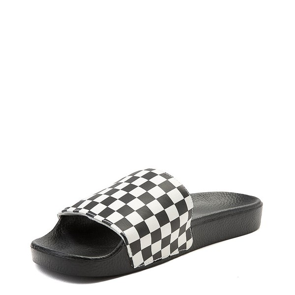 alternate image alternate view Mens Vans Slide On Checkerboard Sandal - Black / WhiteALT3