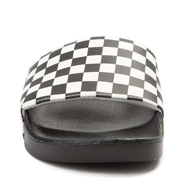 alternate image alternate view Mens Vans Slide On Checkerboard Sandal - Black / WhiteALT4