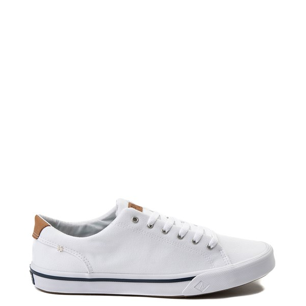 Mens Sperry Top-Sider Striper Casual Shoe - White
