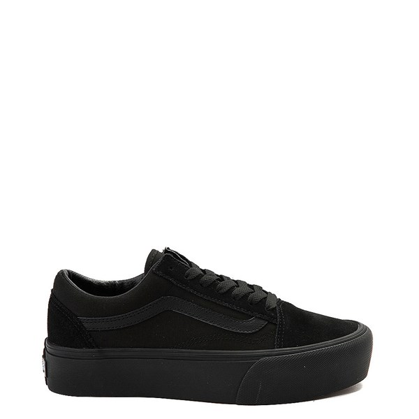 Main view of Vans Old Skool Platform Skate Shoe - Black Monochrome
