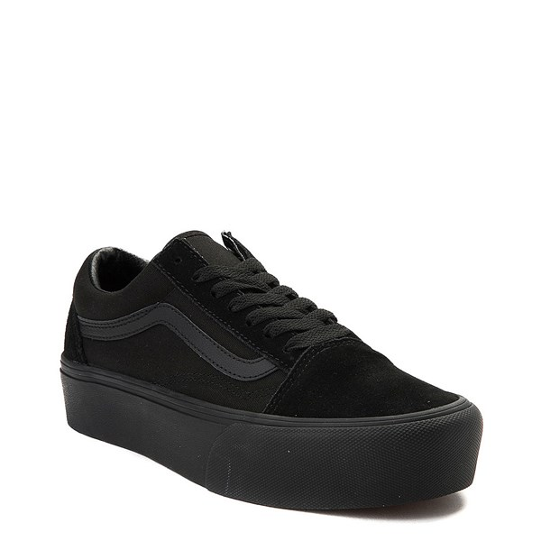 alternate image alternate view Vans Old Skool Platform Skate Shoe - Black MonochromeALT1