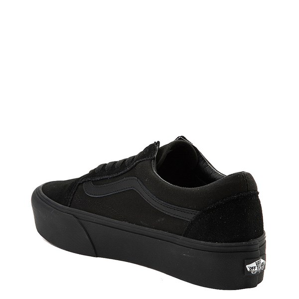 alternate image alternate view Vans Old Skool Platform Skate Shoe - Black MonochromeALT2