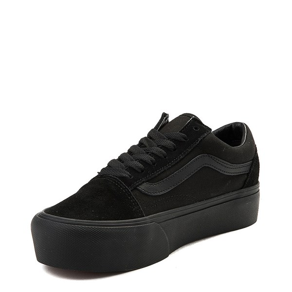 alternate image alternate view Vans Old Skool Platform Skate Shoe - Black MonochromeALT3
