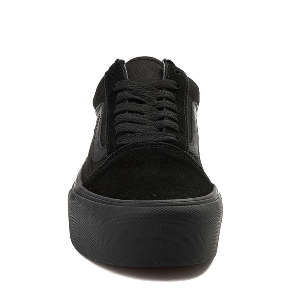 alternate image alternate view Vans Old Skool Platform Skate Shoe - Black MonochromeALT4