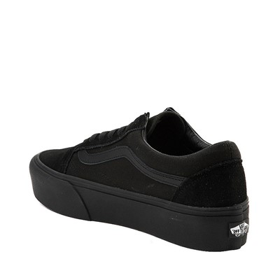 Alternate view of Vans Old Skool Platform Skate Shoe - Black Monochrome