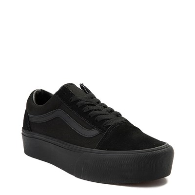 Alternate view of Vans Old Skool Platform Skate Shoe - Black Monochrome