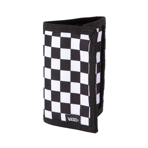 Main view of Vans Slipped Tri-Fold Checkerboard Wallet - Black / White