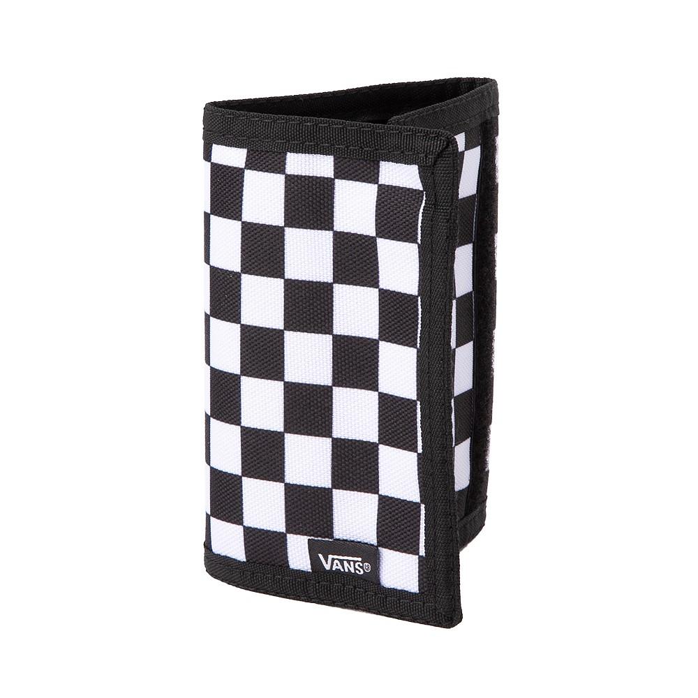 Vans Slipped Tri-Fold Checkerboard Wallet - Black / White