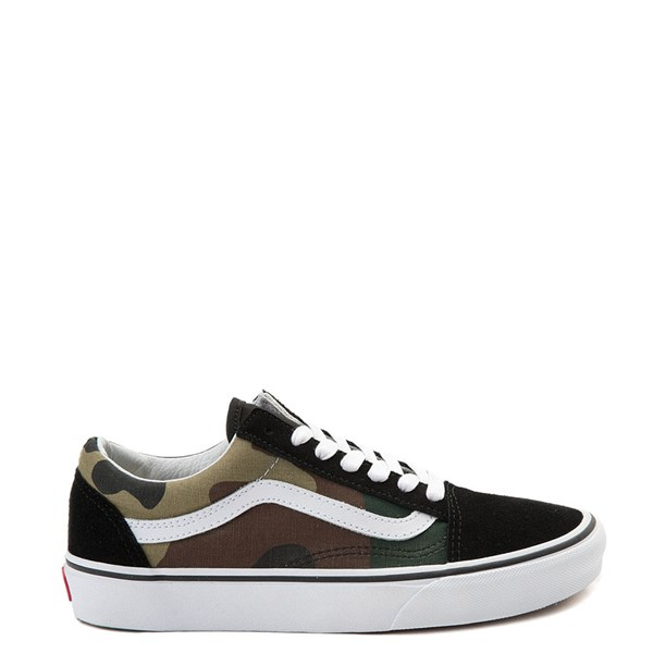 Main view of Vans Old Skool Camo Skate Shoe - Olive