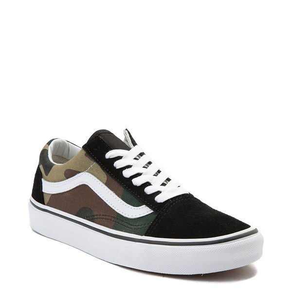 alternate image alternate view Vans Old Skool Camo Skate Shoe - OliveALT1