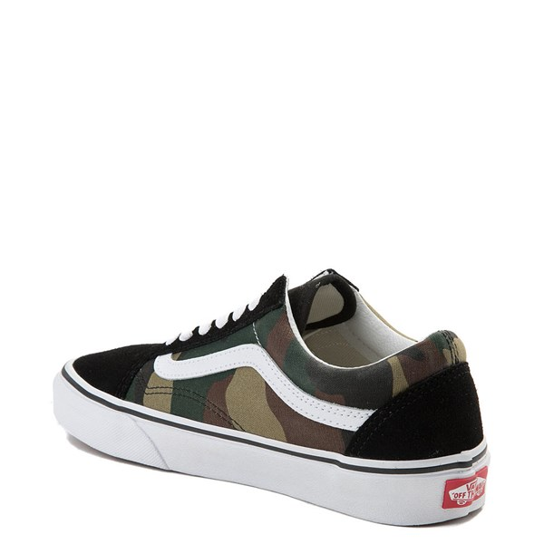 alternate image alternate view Vans Old Skool Camo Skate Shoe - OliveALT2