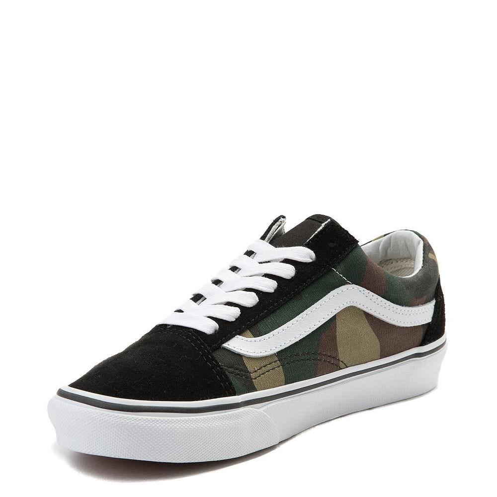 Vans Old Skool Camo Skate Shoe - Olive