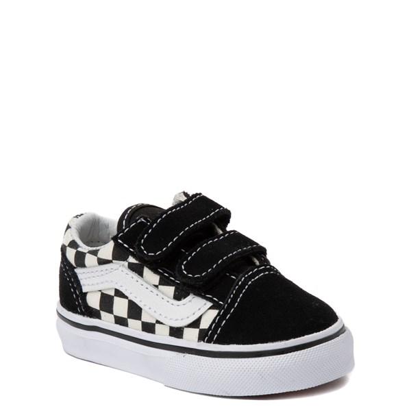 alternate image alternate view Vans Old Skool V Chex Skate Shoe - Baby / ToddlerALT1
