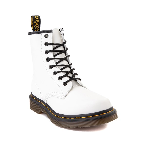 alternate image alternate view Womens Dr. Martens 1460 8-Eye Boot - WhiteALT5