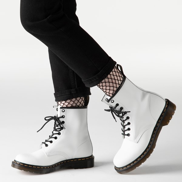 alternate image alternate view Womens Dr. Martens 1460 8-Eye Boot - WhiteB-LIFESTYLE1
