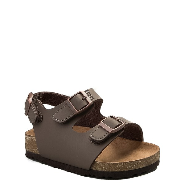 alternate image alternate view MIA Footbed Sandal - Baby / Toddler - MochaALT1