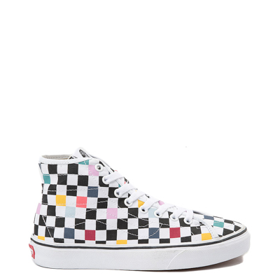 Main view of Vans Sk8 Hi Decon Party Chex Skate Shoe