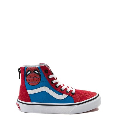 Main view of Vans Sk8 Hi Marvel Avengers Spider-Man Skate Shoe - Little Kid / Big Kid
