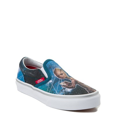 Alternate view of Vans Slip On Marvel Avengers Groot Skate Shoe - Little Kid